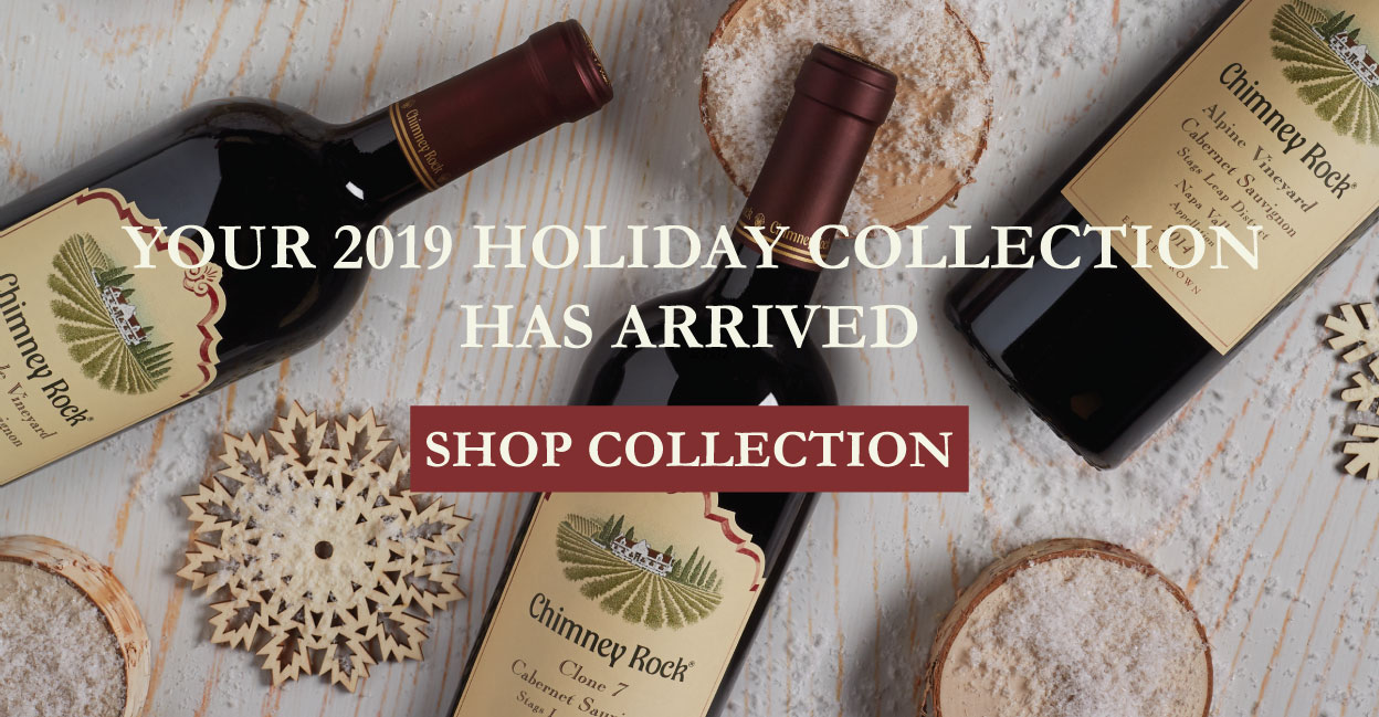 Chimney Rock wine bottles