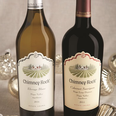Chimney Rock wine bottles